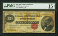 Large Size:Gold Certificates, Fr. 1178 $20 1882 Gold Certificate PMG Choice Fine 15 Net....