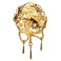 Estate Jewelry:Brooches - Pins, Antique Diamond, Gold Brooch . ...