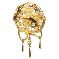 Antique Diamond, Gold Brooch