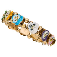 Diamond, Enamel, Gold Bracelet