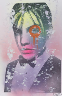 DAIN (20th century) Untitled, early 21st century Mixed media on paper 48 x 31 inches (121.9 x 78