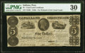 Obsoletes By State:Indiana, Peru, IN- State of Indiana, Canal Land Certificate $5 Jan. 28, 1843 PMG Very Fine 30.. ...