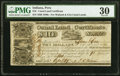 Obsoletes By State:Indiana, Peru, IN- State of Indiana, Canal Land Certificate $10 Apr. 29, 1841 PMG Very Fine 30.. ...