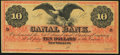 Obsoletes By State:Louisiana, New Orleans, LA- New Orleans Canal and Banking Company $10 18__ Remainder Choice Crisp Uncirculated.. ...