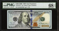 Small Size:Federal Reserve Notes, Fr. 2184-L* $100 2009 Federal Reserve Star Note PMG Superb Gem Unc 68 EPQ.. ...