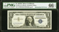 Error Notes:Mismatched Serial Numbers, Mismatched Serial Number Error Fr. 1621 $1 1957B Silver Certificate. PMG Gem Uncirculated 66 EPQ.. ...