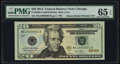 Small Size:Federal Reserve Notes, Binary-Radar-Rotator Serial 10000001 Fr. 2098-G $20 2013 Federal Reserve Note PMG Gem Uncirculated 65 EPQ.. ...