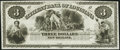Obsoletes By State:Louisiana, New Orleans, LA- Citizens' Bank of Louisiana $3 18__ Remainder Choice Crisp Uncirculated.. ...