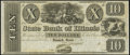 Obsoletes By State:Illinois, Springfield, IL- State Bank of Illinois $10 18__ Remainder Choice Crisp Uncirculated.. ...