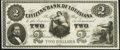 Obsoletes By State:Louisiana, New Orleans, LA- Citizens' Bank of Louisiana $2 18__ Remainder Choice Crisp Uncirculated.. ...