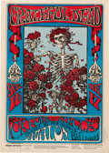 "Music Memorabilia:Posters, Grateful Dead 1966 ""Skeleton & Roses"" Concert Poster FD-26 Signed by Mouse & Kelley...."