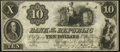 Obsoletes By State:District of Columbia, Washington, DC- Bank of the Republic $10 Sep. 1, 1852 Remainder Choice About Uncirculated.. ...