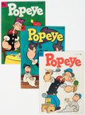 Golden Age (1938-1955):Cartoon Character, Popeye Group of 6 (Dell, 1954-55) Condition: Average VF+.... (Total: 6 )