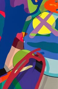 KAWS (b. 1974) Tension Portfolio, 2019 10 screenprints in colors on Saunders Waterford paper 35 x 23 inches (88.9 x 5