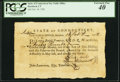 Connecticut Pay Table Office £40 Feb. 18, 1782 PCGS Extremely Fine 40