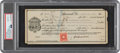 "Baseball Collectibles:Others, 1916 ""Shoeless Joe"" Jackson Signed Voucher, PSA/DNA Gem Mint 10...."