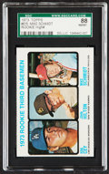 Baseball Cards:Singles (1970-Now), 1973 Topps Mike Schmidt - Rookie 3rd Basemen #615 SGC 88 NM/MT. ...