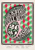 Music Memorabilia:Posters, BG-7 Quicksilver Messenger Service 1966 Fillmore Auditorium Concert Poster Signed by Wes Wilson....