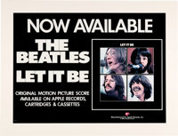 """The Beatles Let It Be Movie Original """"Now Available"""" Promo Poster In Matted Display (United Artists, 1970)..."""
