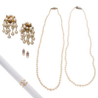 Cultured Pearl, Diamond, Multi-Stone, Gold, Silver Jewelry