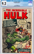 Silver Age (1956-1969):Superhero, The Incredible Hulk #5 (Marvel, 1963) CGC NM- 9.2 Off-white to white pages....
