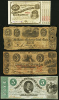 A Quartet of Obsolete Notes from Louisiana, New York, and Virginia. Good or Better. ... (Total: 4 notes)