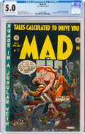 Golden Age (1938-1955):Humor, MAD #5 (EC, 1953) CGC VG/FN 5.0 Off-white to white pages....