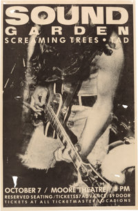 """Soundgarden/Screaming Trees/Tad 11"""" x 17"""" Concert Poster (1990)"""