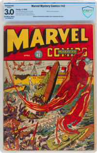 Marvel Mystery Comics #42 (Timely, 1943) CBCS Conserved GD/VG 3.0 Off-white to white pages