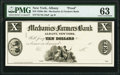 Albany, NY- Mechanics and Farmers Bank (in the City of Albany) $10 18__ as G98 Proof PMG Choice Uncirculated 63.<...