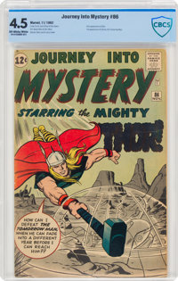 Journey Into Mystery #86 (Marvel, 1962) CBCS VG+ 4.5 Off-white to white pages