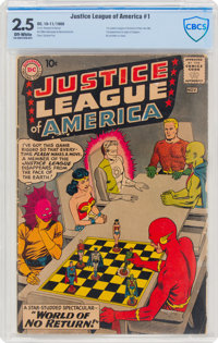 Justice League of America #1 (DC, 1960) CBCS GD+ 2.5 Off-white pages