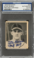 Autographs:Sports Cards, Signed 1948 Bowman Stan Musial #36 PSA/DNA Authentic. ...