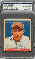 "Autographs:Sports Cards, Signed 1933 Goudey Charlie ""Red"" Ruffing #56 PSA & PSA/DNA..."