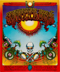 """Music Memorabilia:Posters, Grateful Dead 1969 Classic """"Aoxomoxoa"""" Concert Poster Signed by Artist Rick Griffin (AOR 2.24)...."""