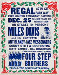 Music Memorabilia:Posters, Miles Davis 1959 Chicago Concert Poster from Same Year as Kind of Blue....