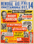 """Music Memorabilia:Posters, Chuck Berry 1955 """"Big Rock & Roll Show"""" Rookie Concert Poster w/""""Maybellene.""""..."""