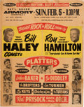 Music Memorabilia:Posters, Biggest Rock 'n' Roll Show of 1956 Jumbo Concert Poster w/Bill Haley & His Comets, The Platters and Bo Diddley....