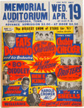 Music Memorabilia:Posters, Fats Domino, Bo Diddley Biggest Show of Stars 1961 Star-Studded Globe Concert Poster....