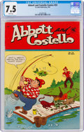 Golden Age (1938-1955):Humor, Abbott and Costello #24 (St. John, 1954) CGC VF- 7.5 White pages....