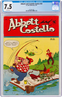Abbott and Costello #24 (St. John, 1954) CGC VF- 7.5 White pages