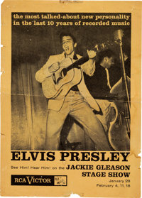 Elvis Presley January 1956 RCA Promotional Handbill for Very First Television Appearance