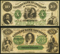 Obsoletes By State:Louisiana, Shreveport, LA- Citizens' Bank of Louisiana at Shreveport $10 Aug. 23, 1860; $20 18__ Remainders Crisp Uncirculated or Bet... (Total: 2 notes)