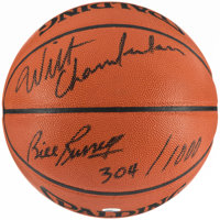 Wilt Chamberlain & Bill Russell Signed Basketball