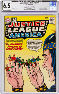 Justice League of America #10 Murphy Anderson File Copy (DC, 1962) CGC FN+ 6.5 Off-white pages