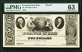 Erie, PA- Borough of Erie $2 18__ as Hoober 114-22 Proof PMG Choice Uncirculated 63
