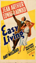 "Movie Posters:Comedy, Easy Living (Paramount, 1937). Folded, Fine/Very Fine. Three Sheet (41"" X 71.5""). From the Mike Kaplan Collection.. ..."