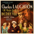 "Movie Posters:Drama, The Private Life of Henry VIII (United Artists, 1933). Fine on Linen. Six Sheet (79.25"" X 79.5""). From the Mike Kaplan Col..."