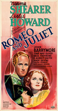 """Romeo and Juliet (MGM, 1936). Fine+ on Linen. Three Sheet (41.5"""" X 79"""") Style B. From the Mike Kaplan Collecti..."""