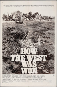 "How the West Was Won & Other Lot (MGM, R-1970). Folded, Overall: Fine/Very Fine. One Sheets (2) (27"" X 41""..."